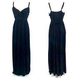 NEW Allison Brittney XL black sleeveless maxidress